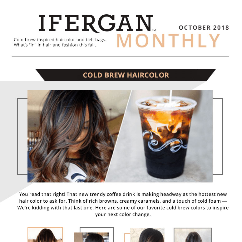 Cold brew hair color trends, return of the fanny pack, the best salon in chicago - book your appointment today!