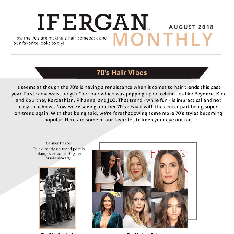 70s hair styles trends - august 2018 newsletter