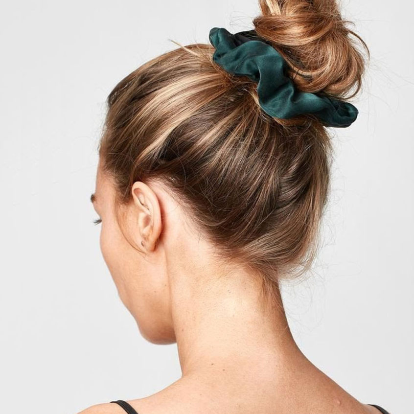 Hair in bun