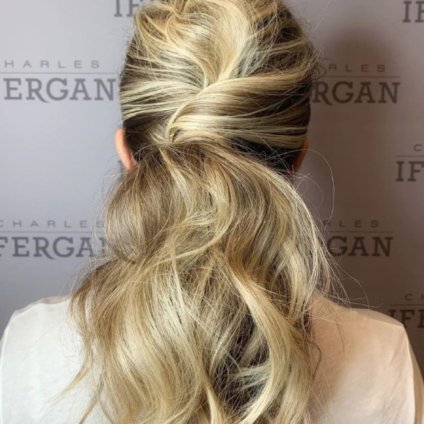 Bridal Half-Up Twist Hairstyle