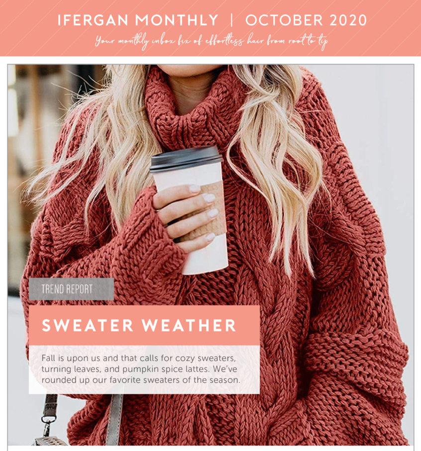 Charles Ifergan 2020 - October - Sweater Weather Newsletter Screen Shot (Top)