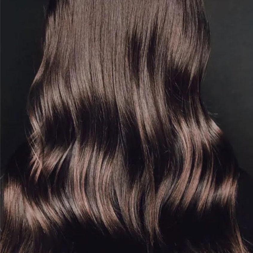 Dark colored hair glaze