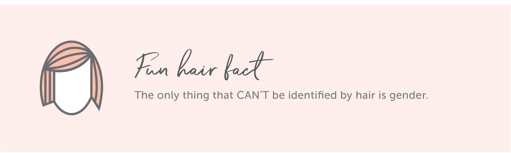 Fun Hair Fact - The only thing that CAN'T be identified by hair is gender