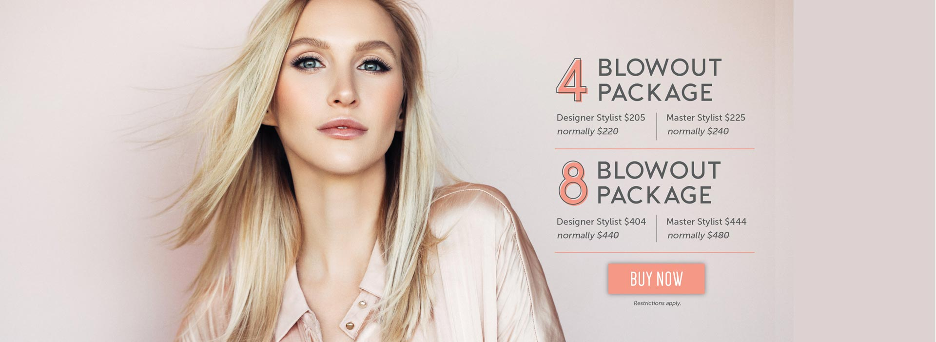 4 and 8 blowout package options