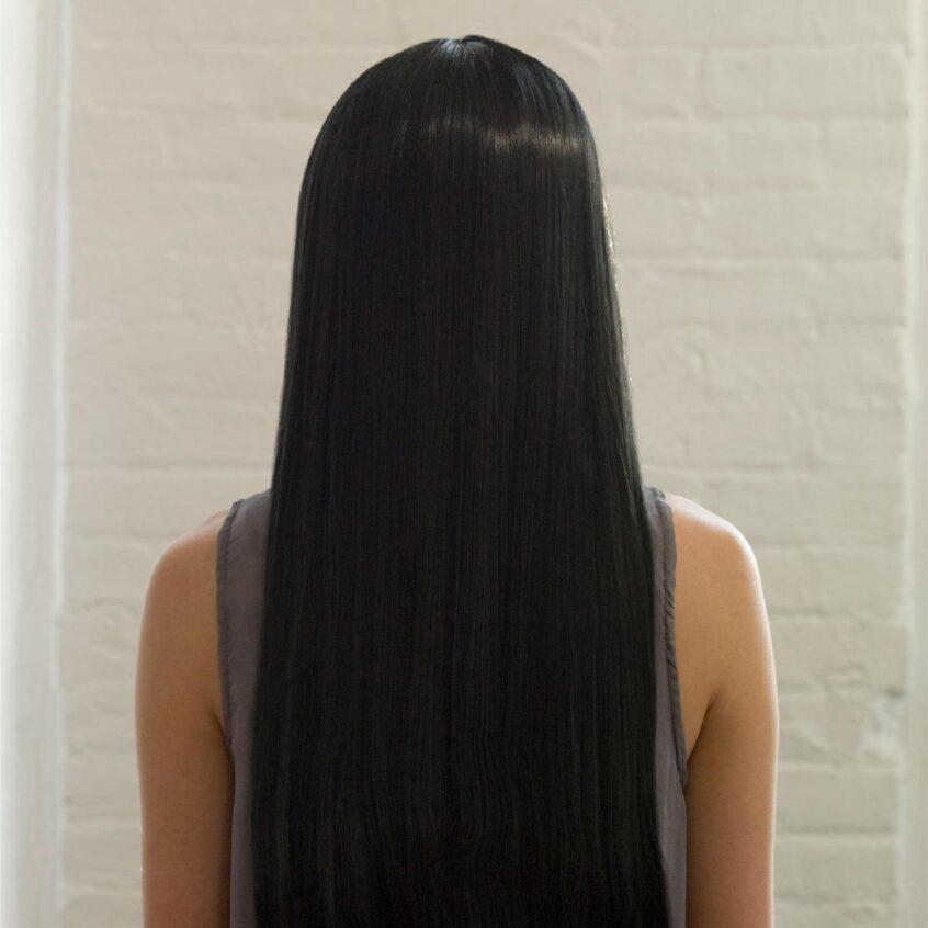 sleek straight long hair - Japanese hair straightening