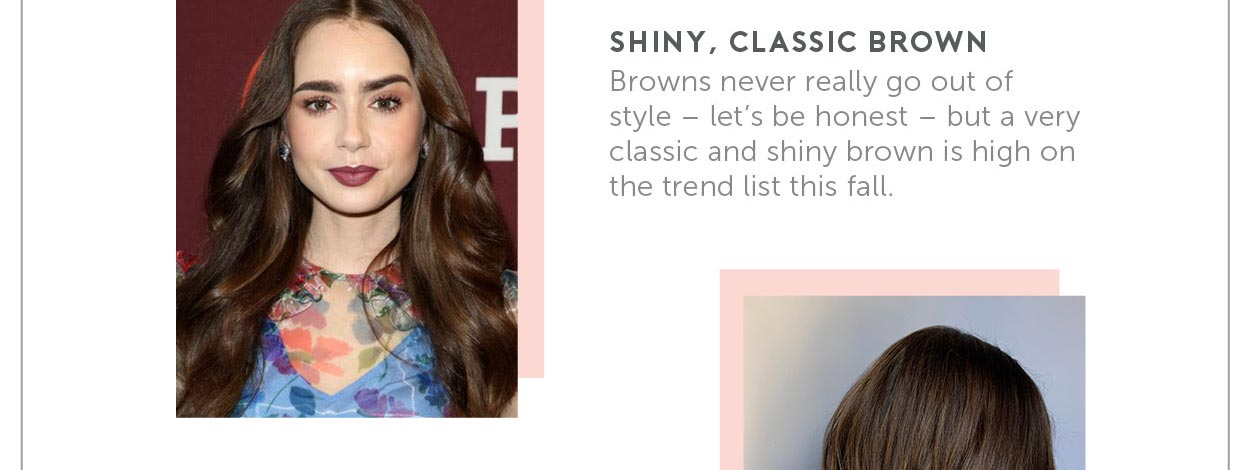 Shiny, Classic Brown Browns never really go out of style- let's be honest- but a very classic and shiny brown is high on the trend list this fall.