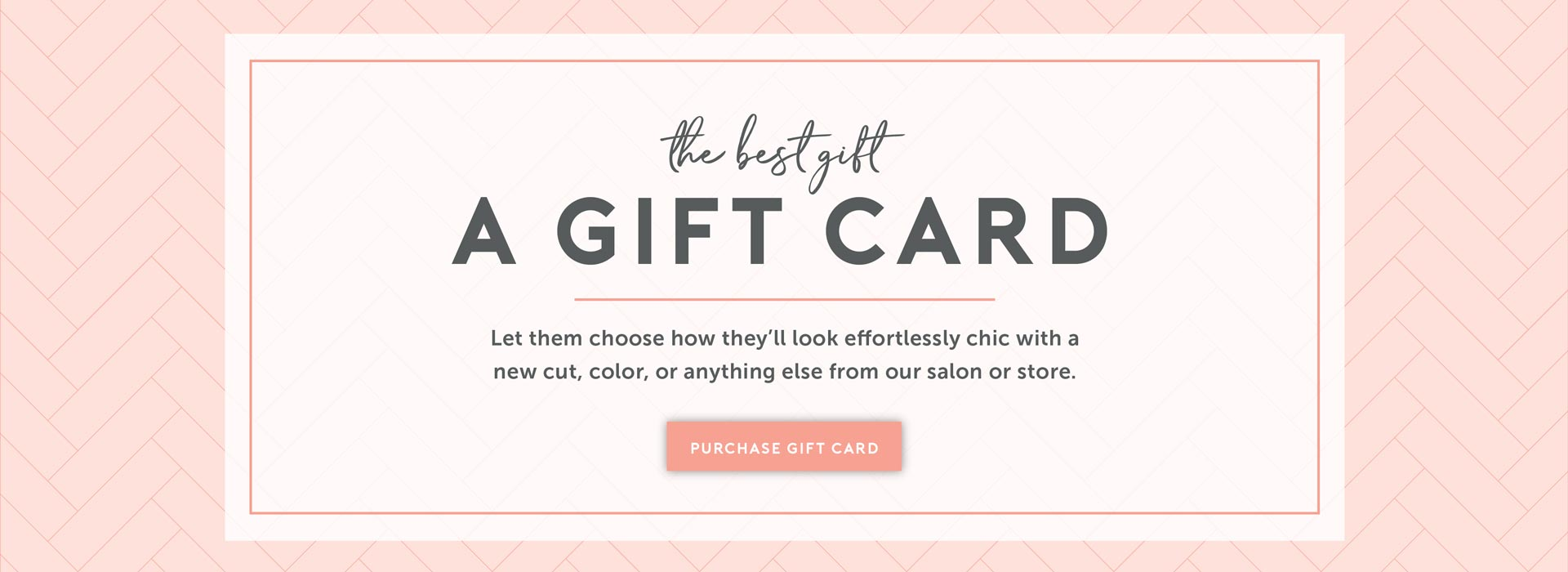 The best gift. A gift card. Let them choose how they'll look effortlessly chic with a new cut, color, or anything else from our salon or store. Click to purchase Charles Ifergan gift cards.