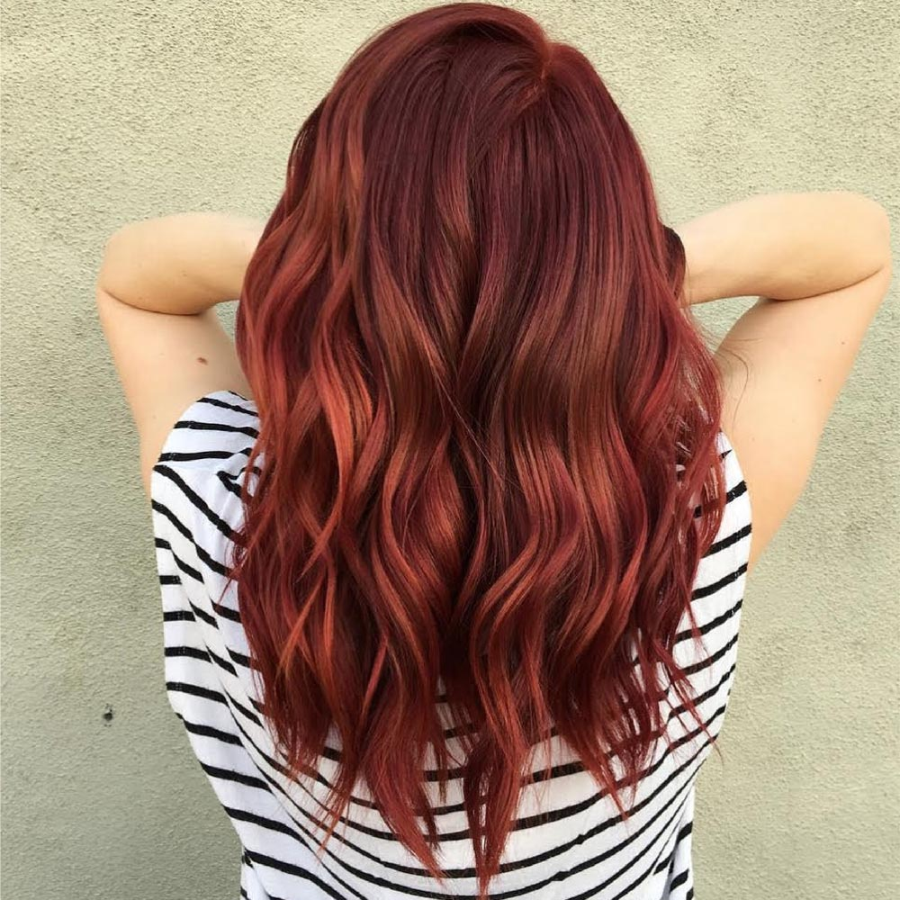 Red hair Color for Fall